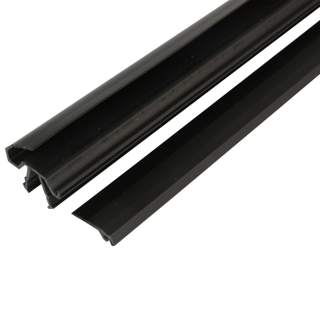panel support insert profile pvc slot 8 10 type b black 1 m. Black Bedroom Furniture Sets. Home Design Ideas