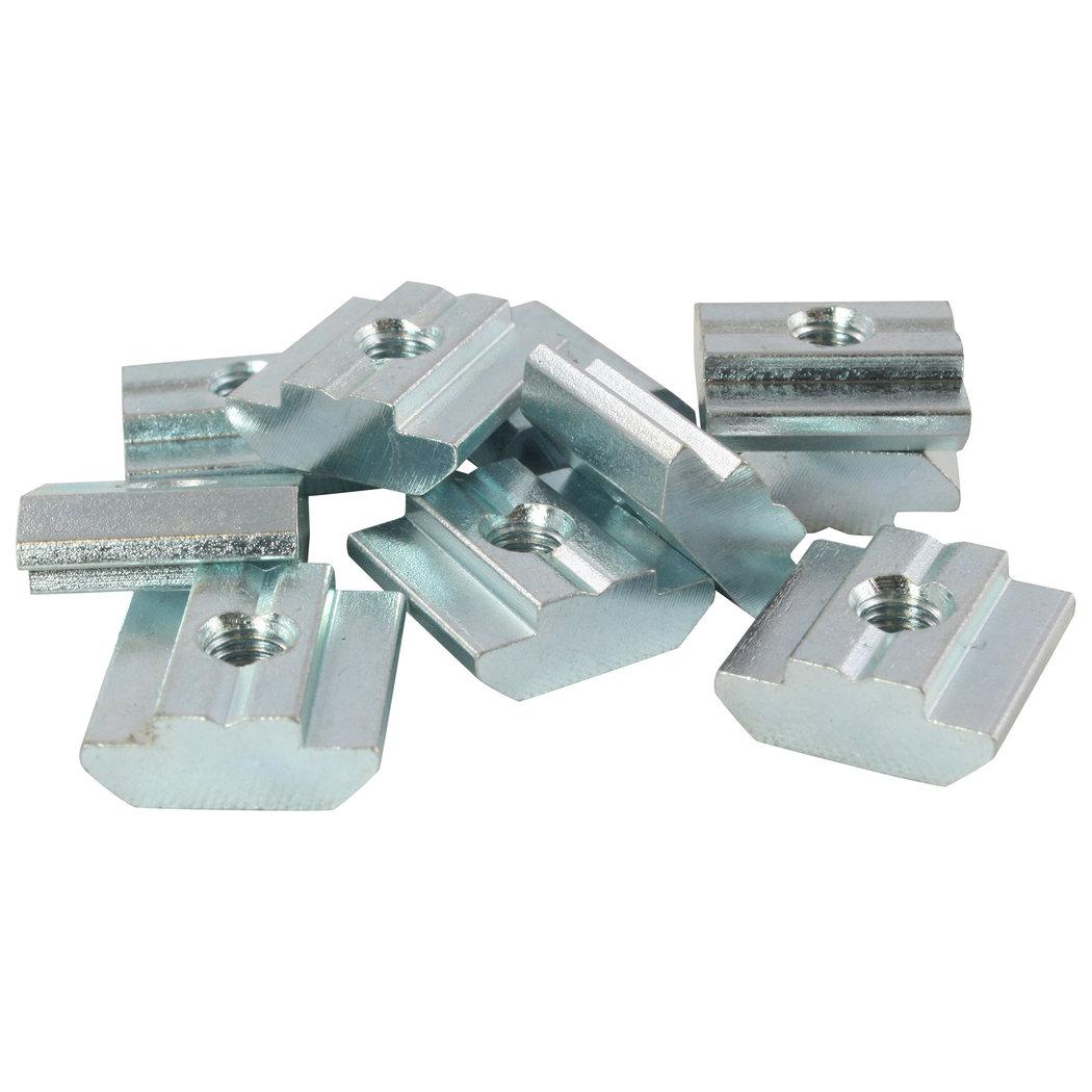 ohne Steg Federkugel 100x Nutenstein 5 St M5 Nut 5 Typ I Stahl verzinkt