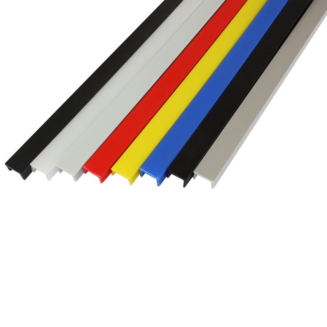 Abdeckprofil NBR Nut 6//8 1 m Typ I verschiedene Farben